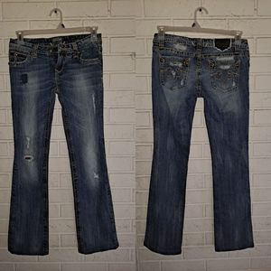 ReRock Jeans for Express , distressed size 2R